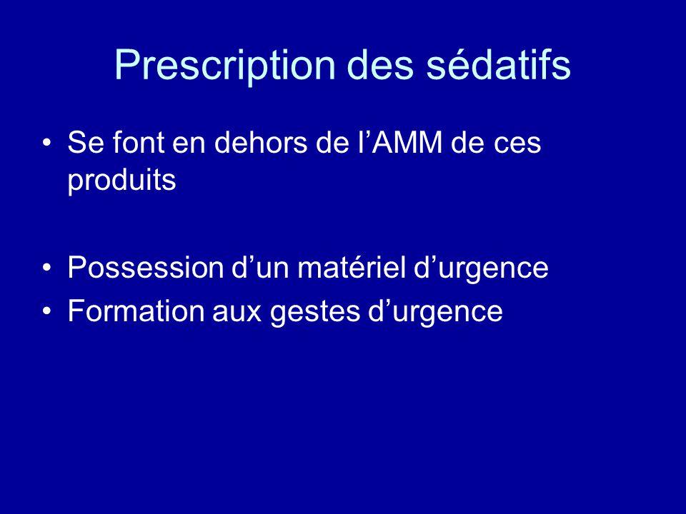 Prescription des sédatifs