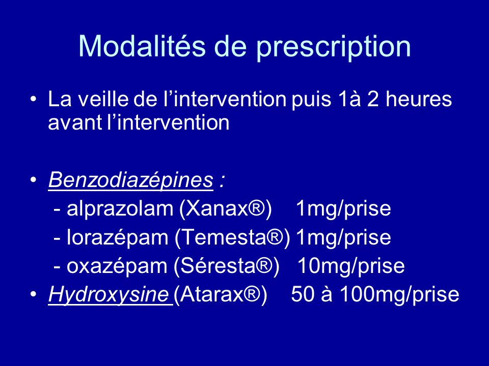 Modalités de prescription
