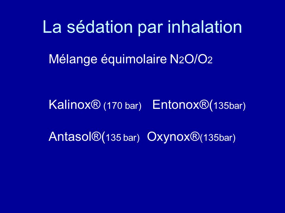 La sédation par inhalation