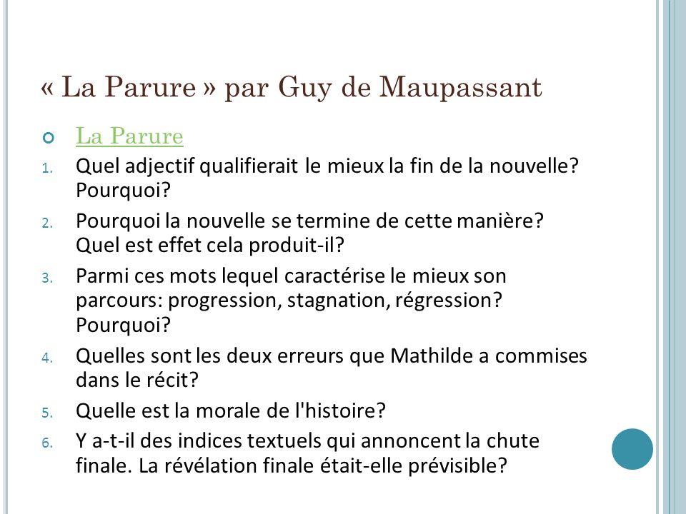 « La Parure » par Guy de Maupassant