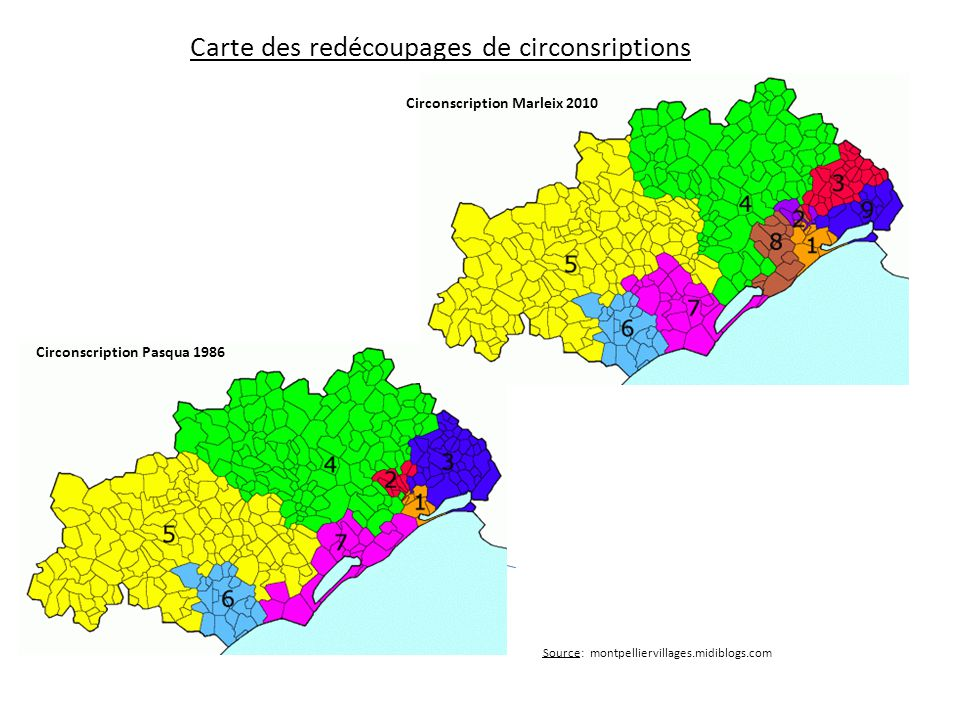 Carte des redécoupages de circonsriptions
