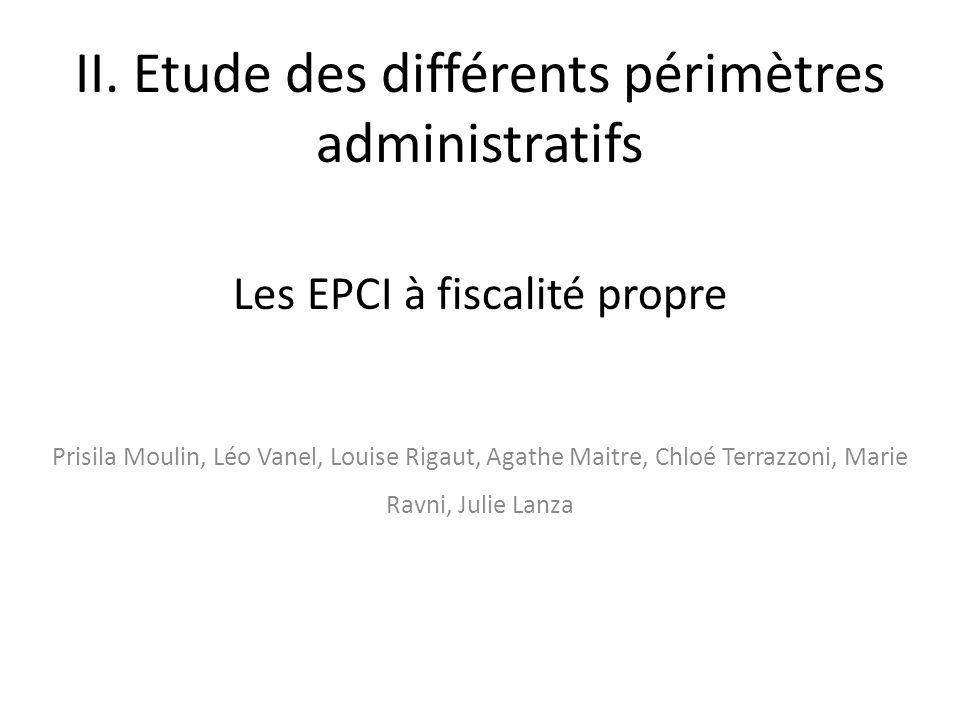 II. Etude des différents périmètres administratifs