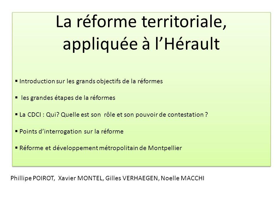 La réforme territoriale, appliquée à l'Hérault