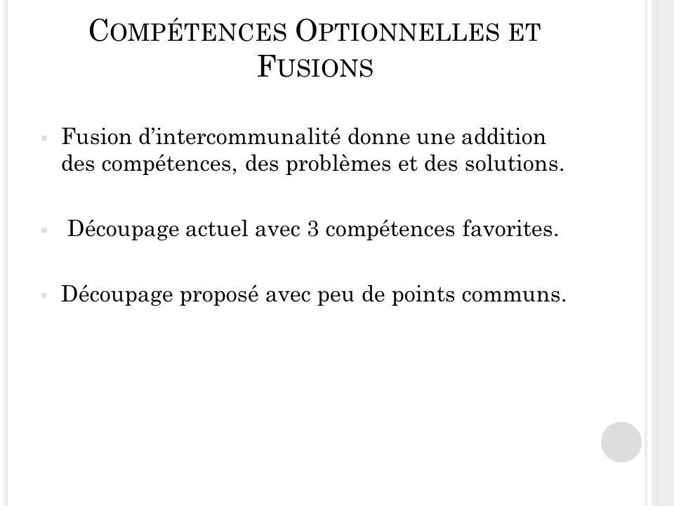 Compétences Optionnelles et Fusions