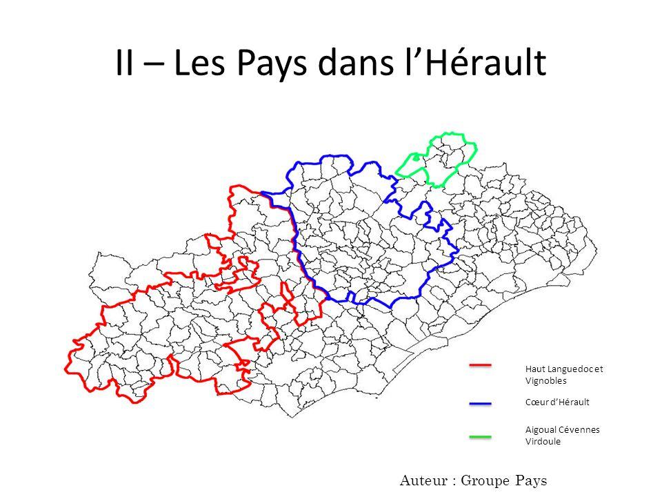 II – Les Pays dans l'Hérault