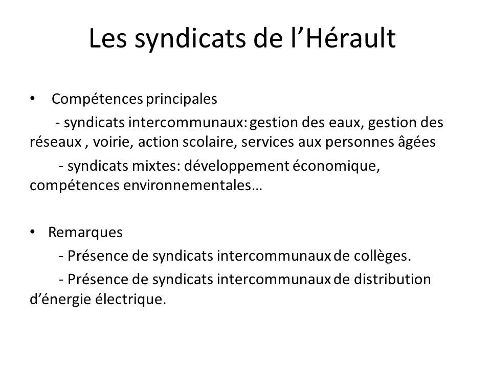 Les syndicats de l'Hérault