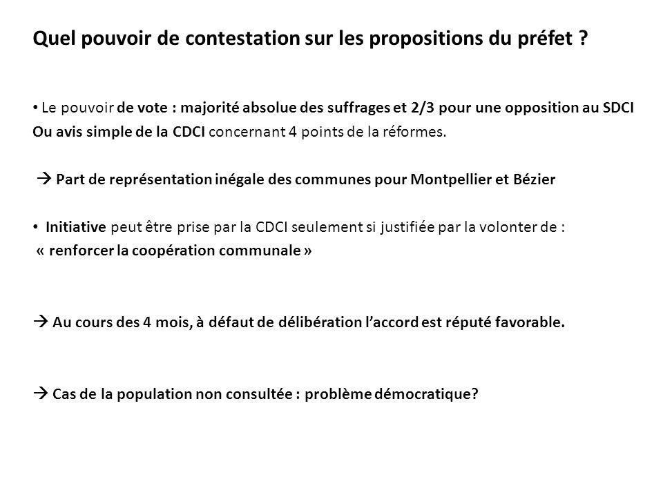 Quel pouvoir de contestation sur les propositions du préfet