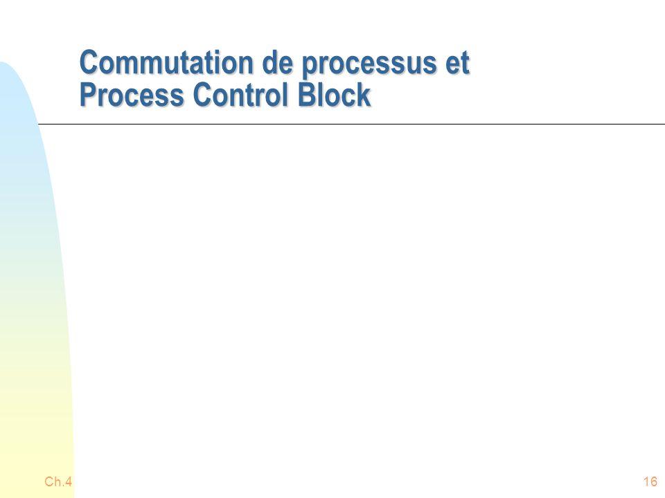 Commutation de processus et Process Control Block