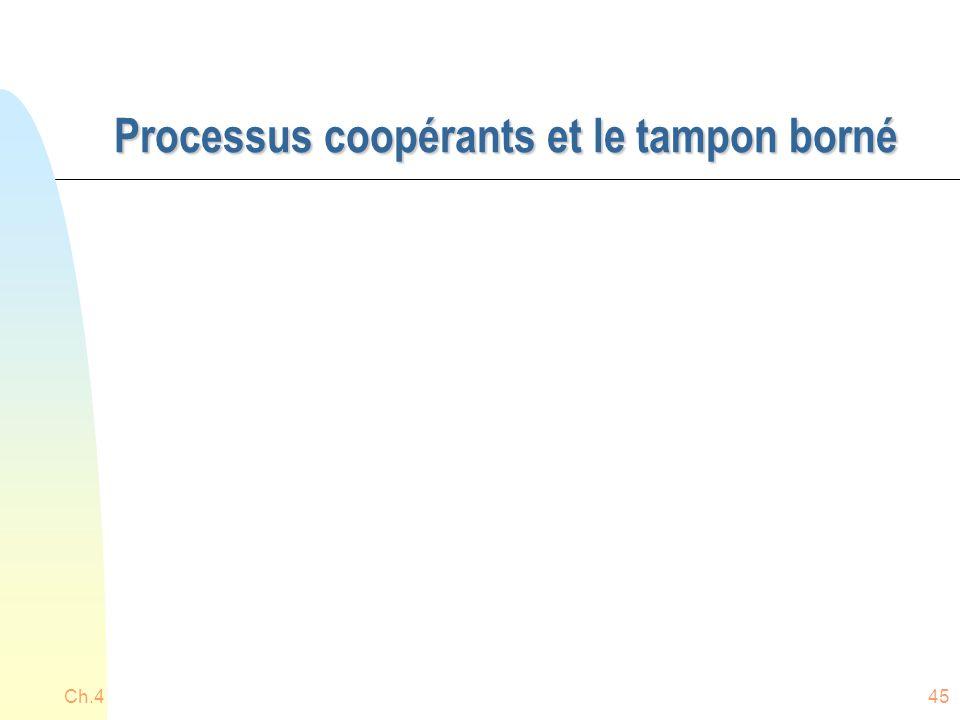 Processus coopérants et le tampon borné