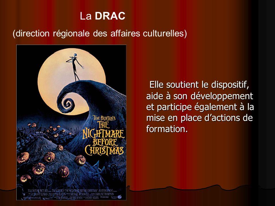 La DRAC (direction régionale des affaires culturelles)