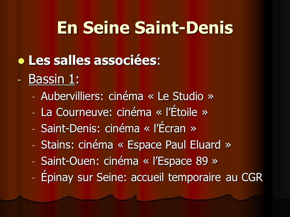 En Seine Saint-Denis Les salles associées: Bassin 1: