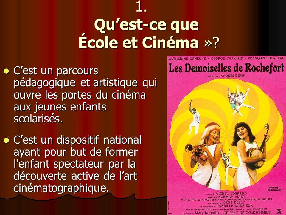 1. Qu'est-ce que École et Cinéma »