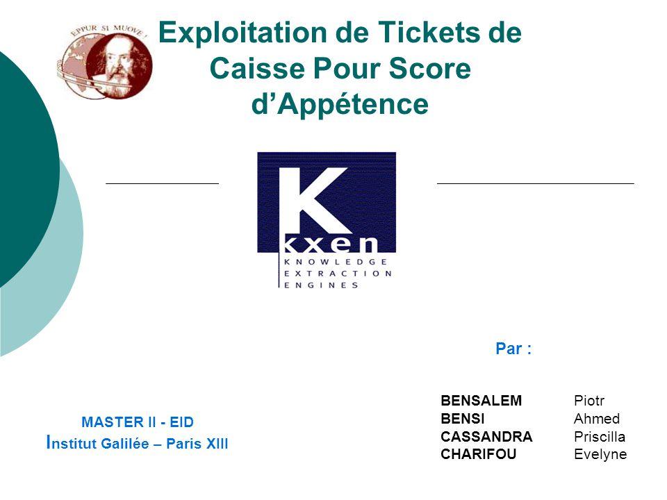 Exploitation de Tickets de Caisse Pour Score d'Appétence
