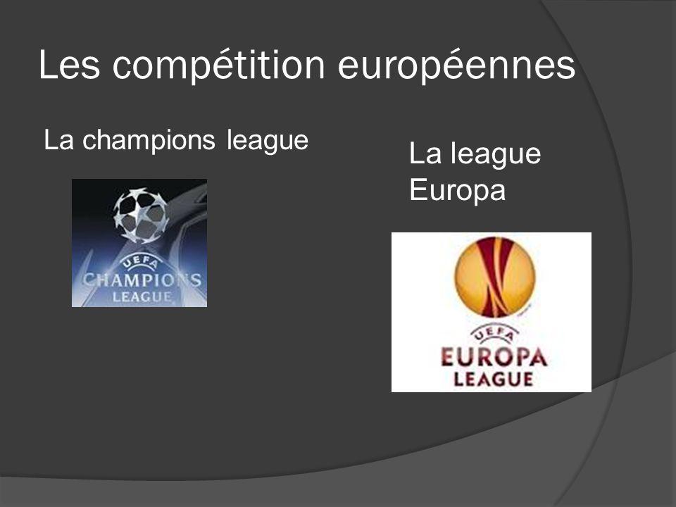Les compétition européennes