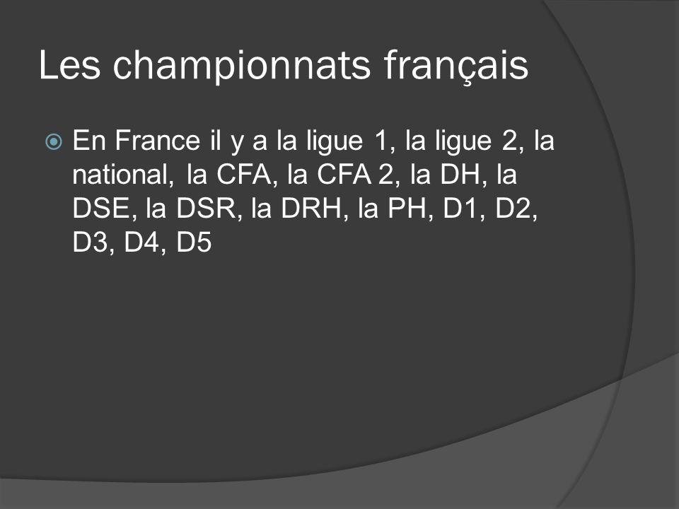 Les championnats français