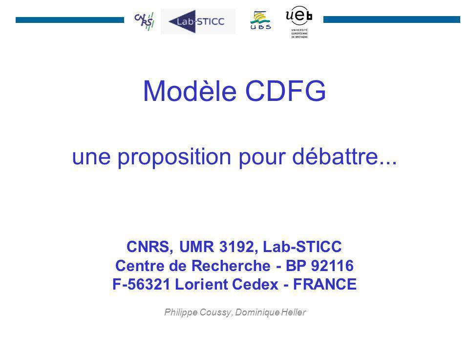 Modèle CDFG une proposition pour débattre...