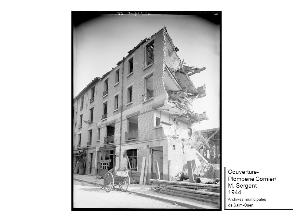 Couverture- Plomberie Cornier/ M. Sergent 1944 Archives municipales