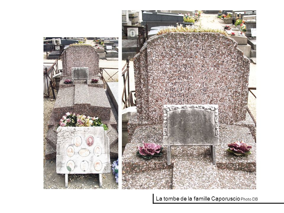La tombe de la famille Caporuscio Photo DB