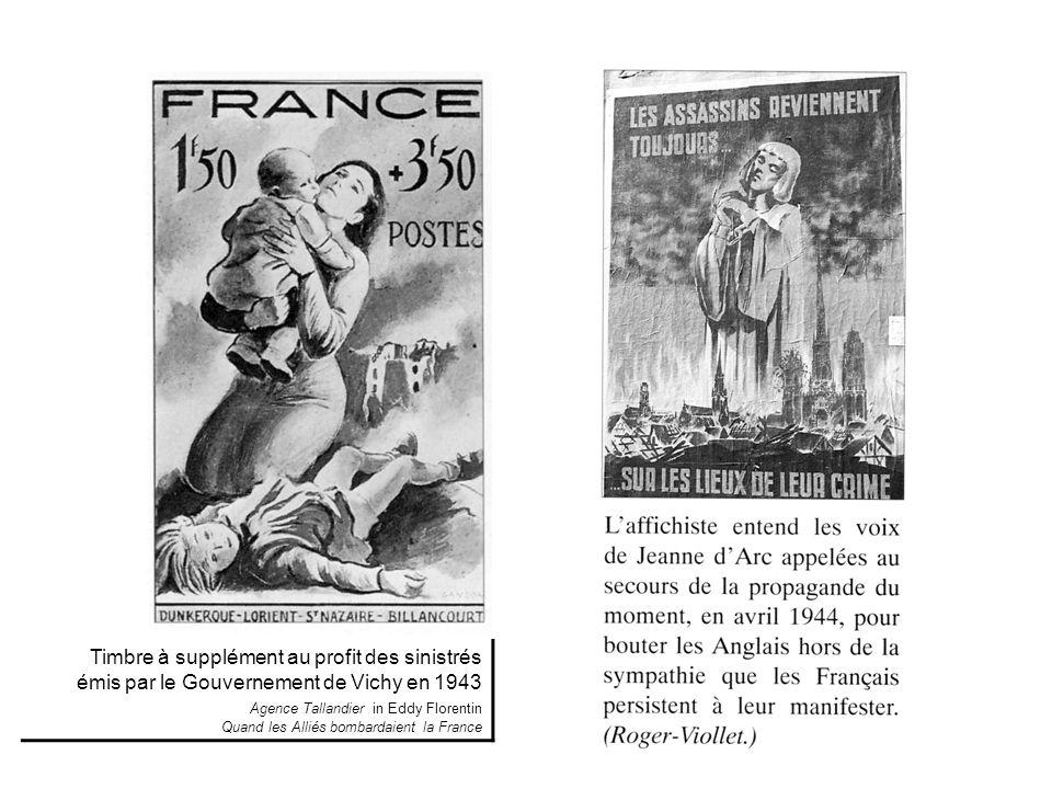Timbre à supplément au profit des sinistrés émis par le Gouvernement de Vichy en 1943 Agence Tallandier in Eddy Florentin Quand les Alliés bombardaient la France