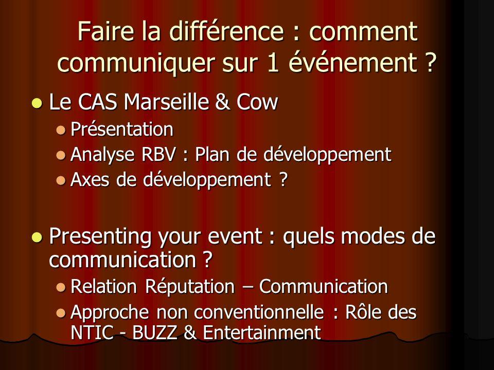 Faire la différence : comment communiquer sur 1 événement