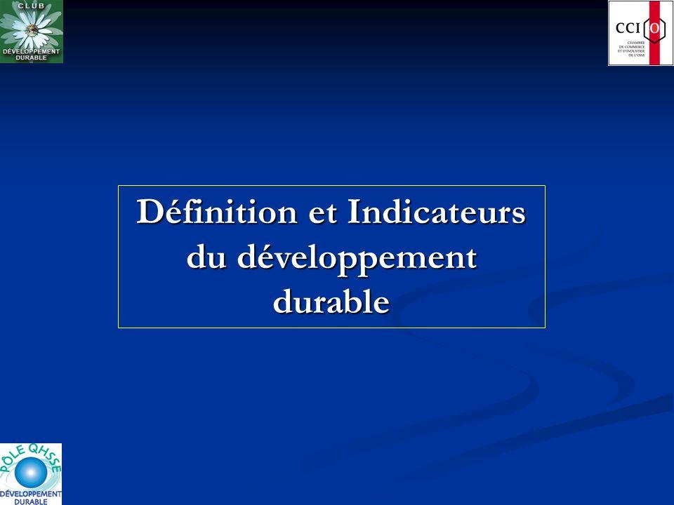 Définition et Indicateurs du développement durable