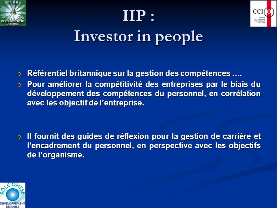 IIP : Investor in people