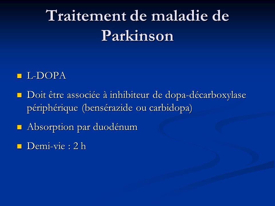Traitement de maladie de Parkinson