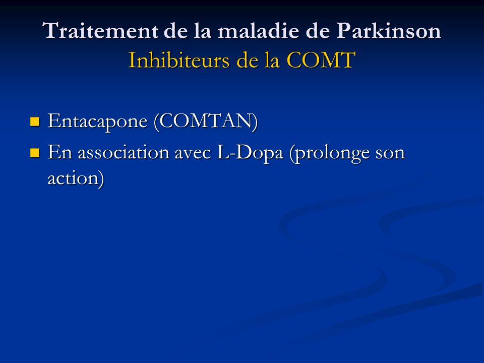 Traitement de la maladie de Parkinson Inhibiteurs de la COMT