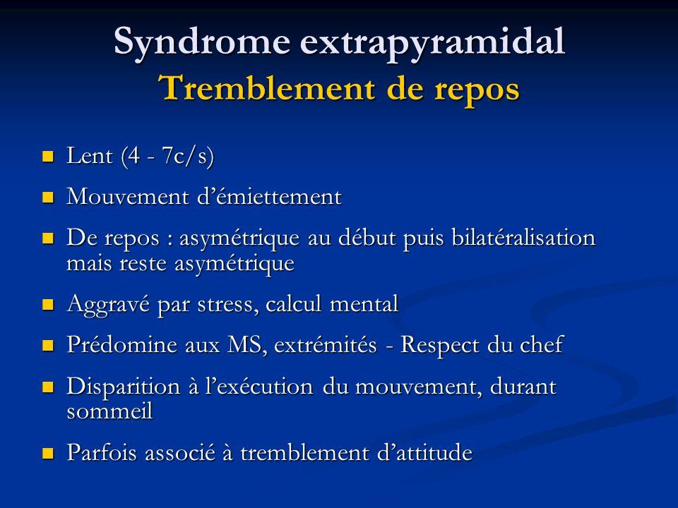 Syndrome extrapyramidal Tremblement de repos