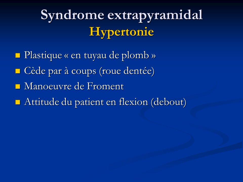 Syndrome extrapyramidal Hypertonie