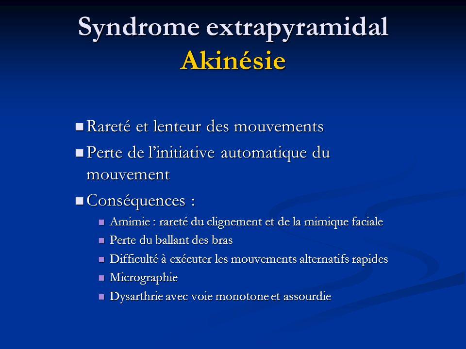 Syndrome extrapyramidal Akinésie