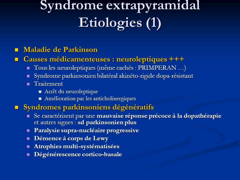 Syndrome extrapyramidal Etiologies (1)