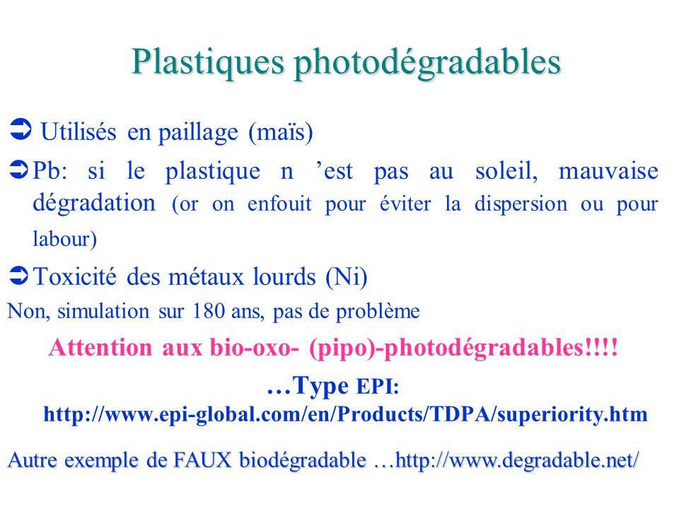 Plastiques photodégradables