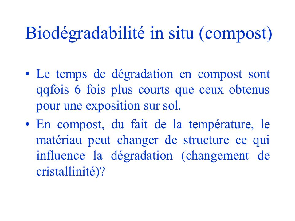 Biodégradabilité in situ (compost)