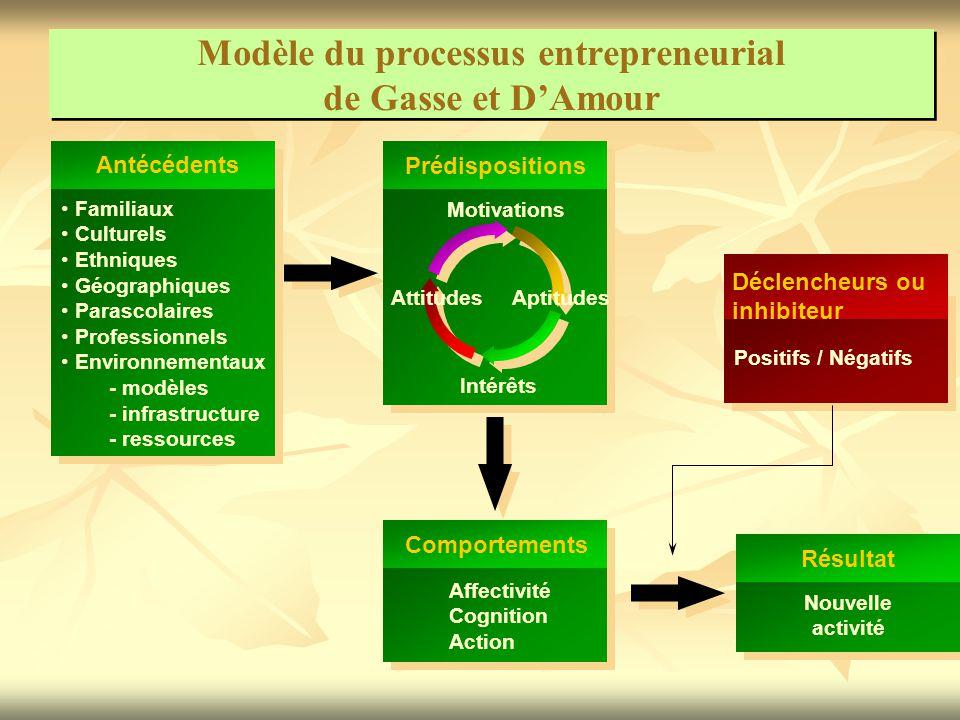 Modèle du processus entrepreneurial de Gasse et D'Amour