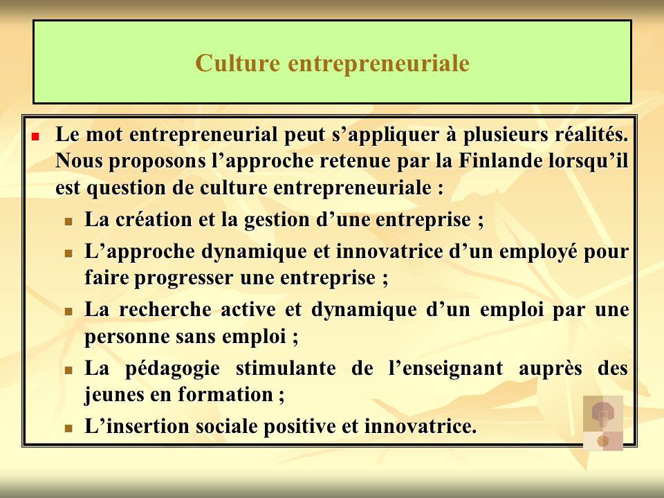 Culture entrepreneuriale