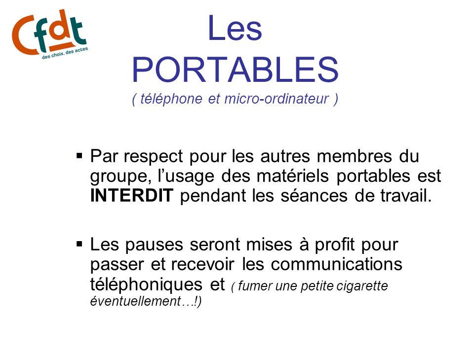 Les PORTABLES ( téléphone et micro-ordinateur )