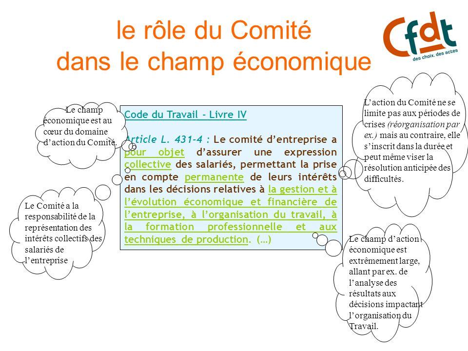 le rôle du Comité dans le champ économique