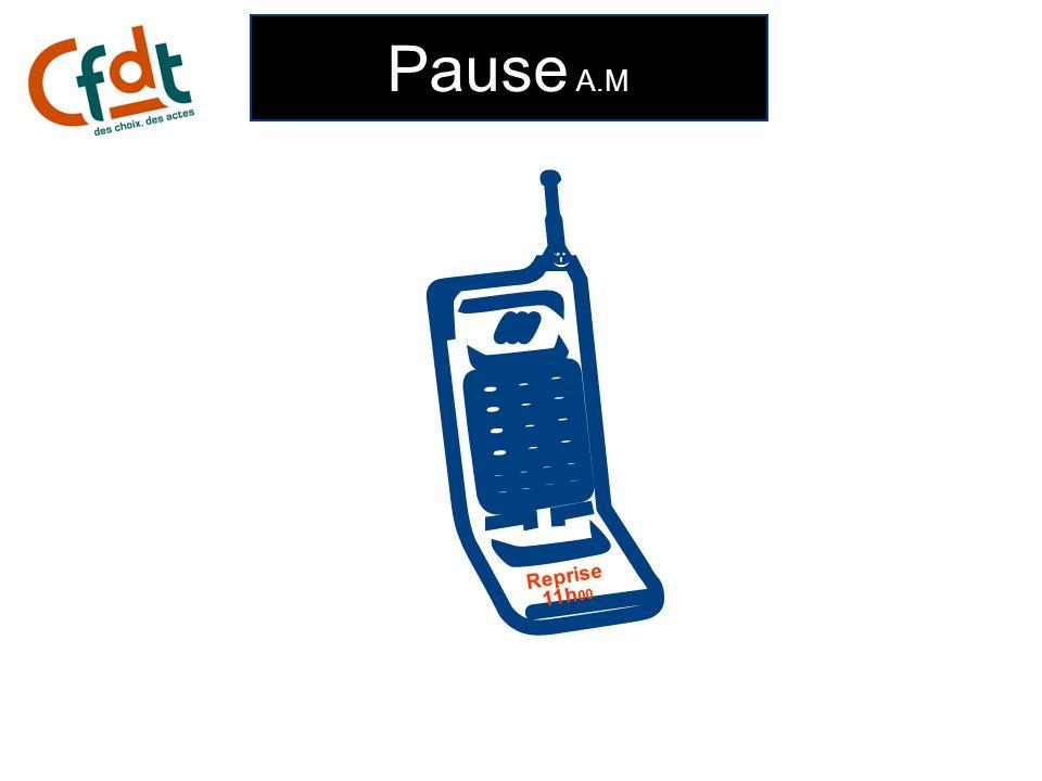 Pause A.M  ;-) Reprise 11h00