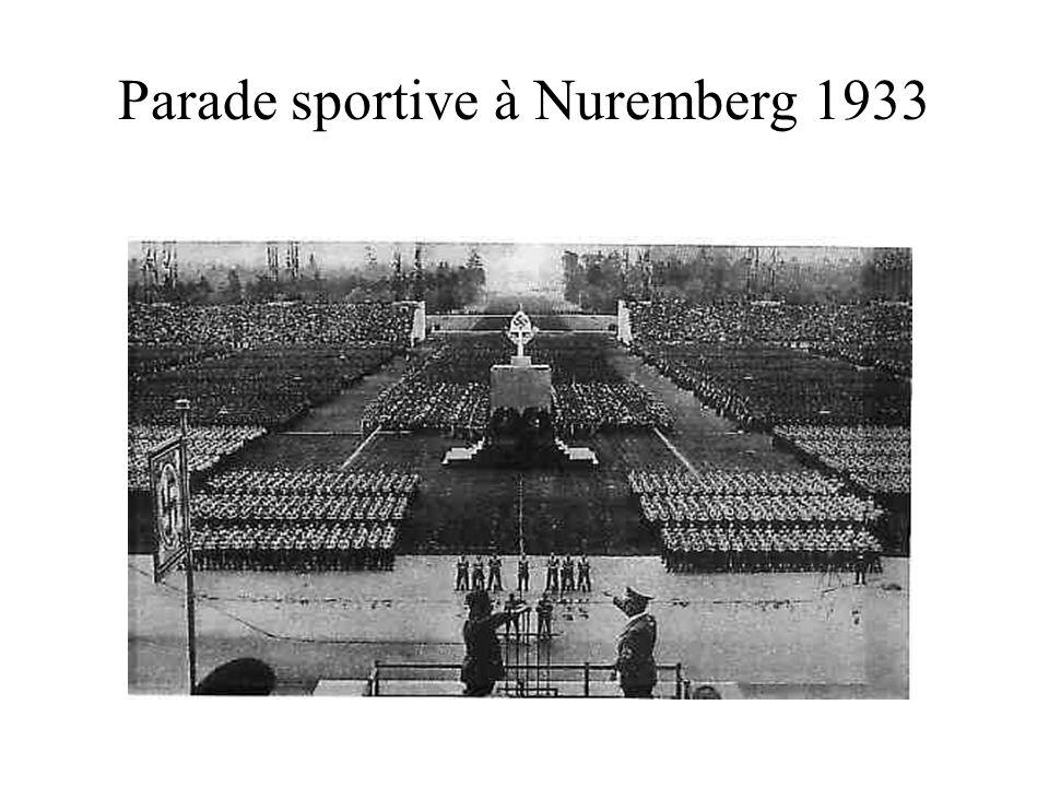 Parade sportive à Nuremberg 1933