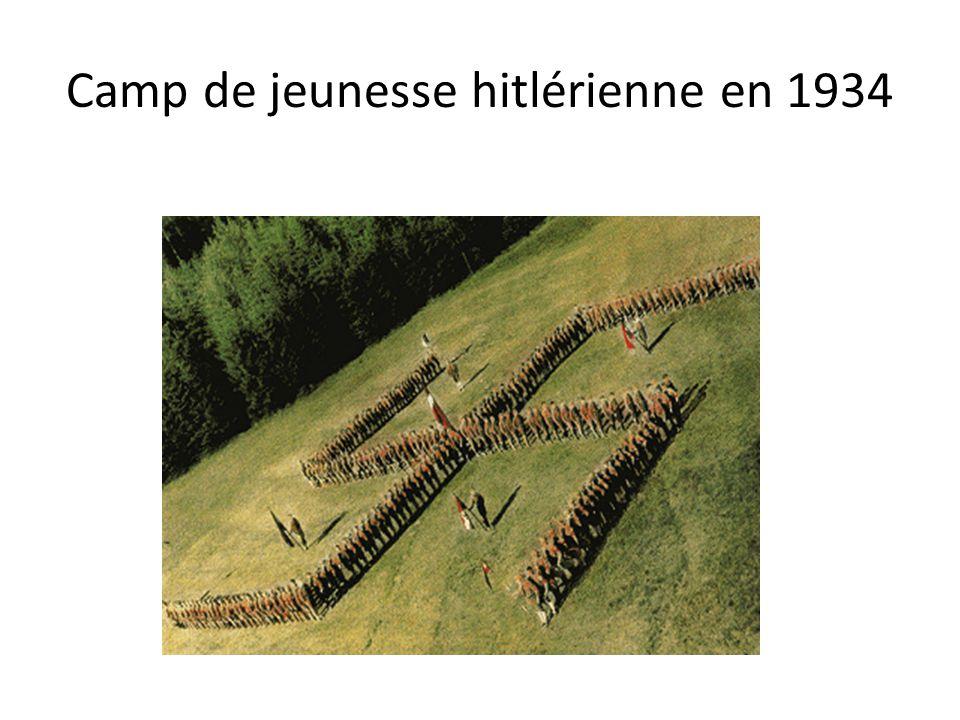 Camp de jeunesse hitlérienne en 1934