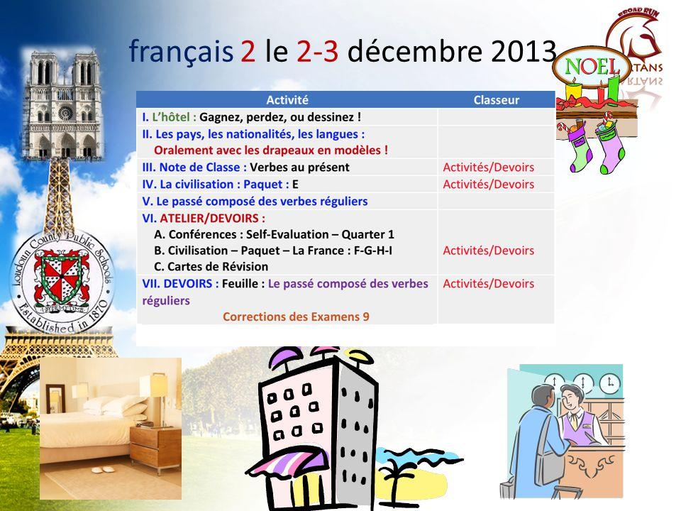 français 2 le 2-3 décembre 2013