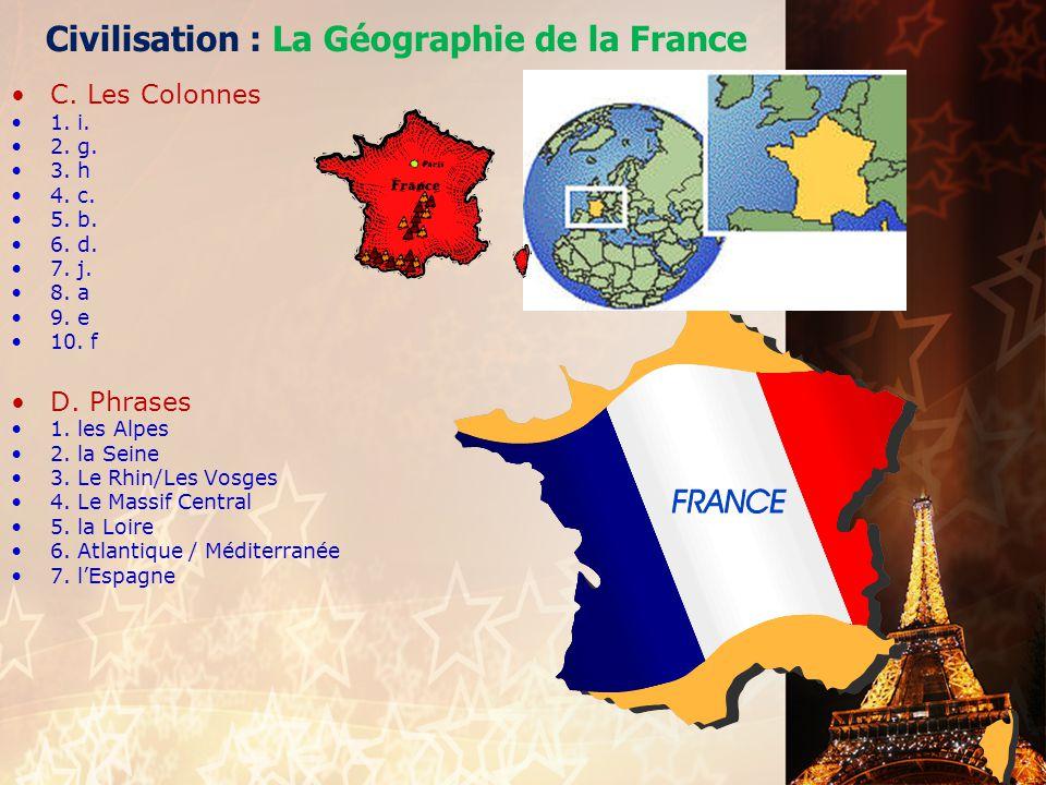 Civilisation : La Géographie de la France