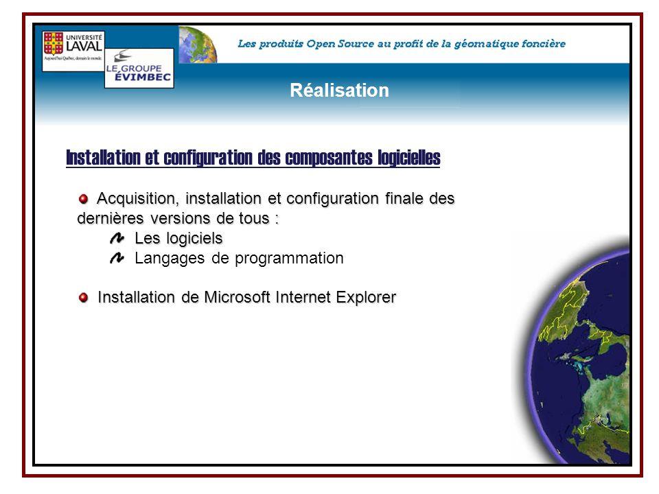 Installation et configuration des composantes logicielles