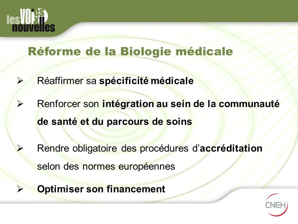 Réforme de la Biologie médicale