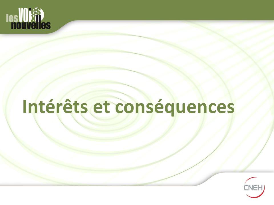 Intérêts et conséquences