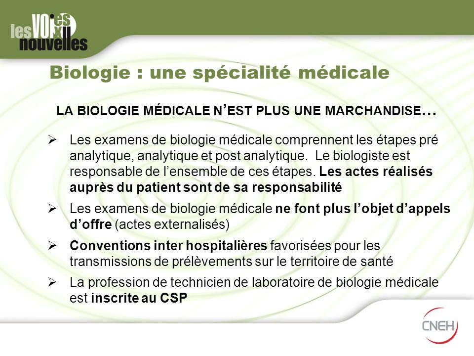 Biologie : une spécialité médicale