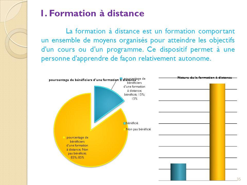 1. Formation à distance