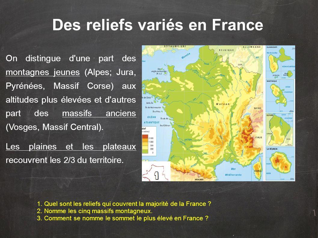 Des reliefs variés en France