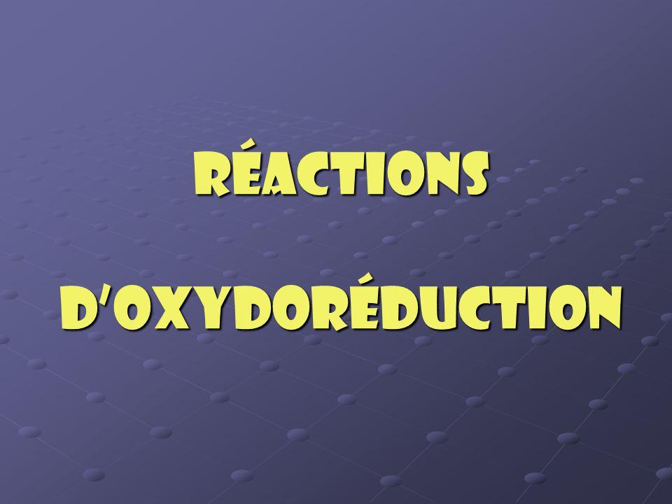 Réactions d'oxydoréduction